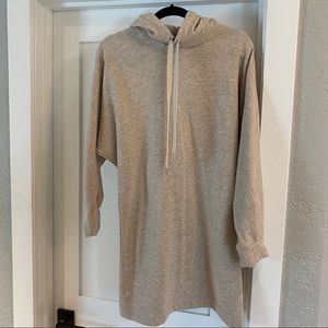 H&M tan hoodie sweatshirt mini dress